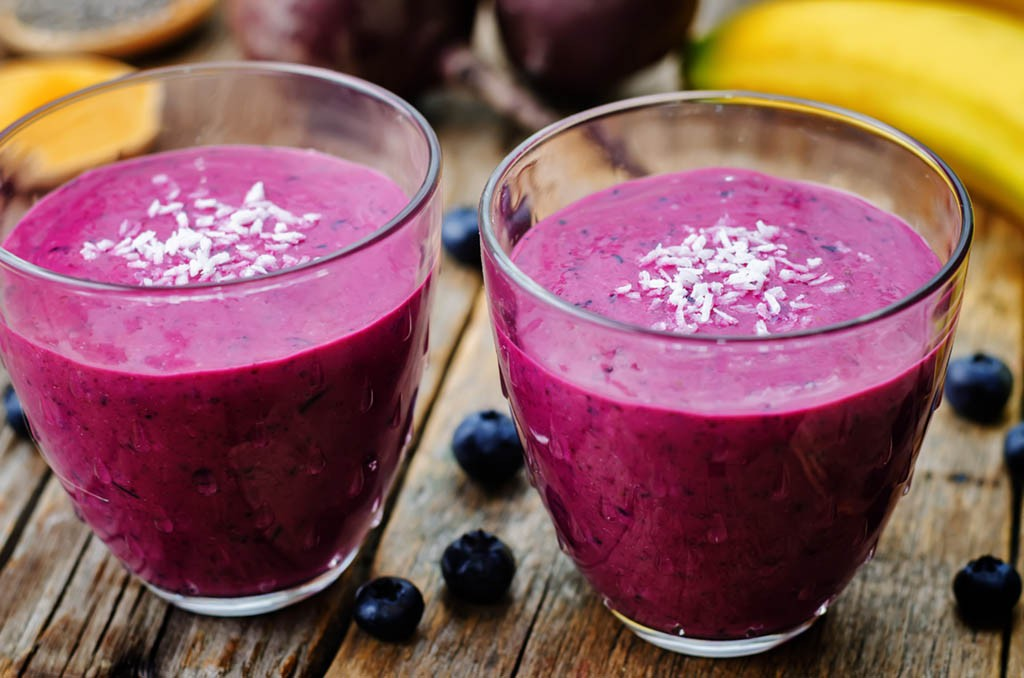 Beetroot Banana Chia Smoothie
