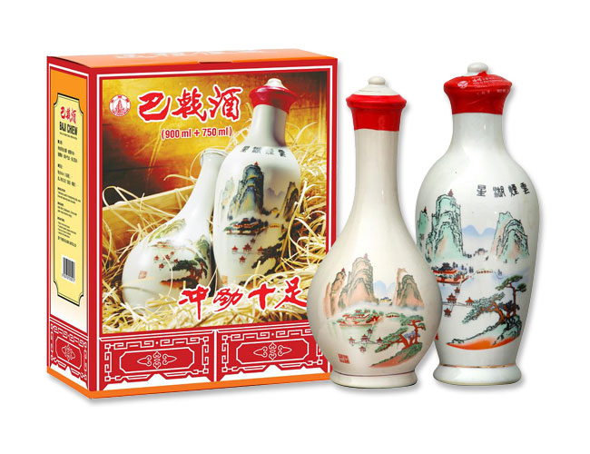Nice Design of Baji Chiew Tonic Bottle from Ceramic and Good Herbal