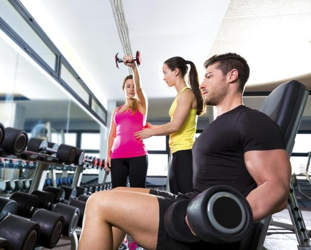 Good Activy and Sport of Health Facts for Woman and Man in Gym