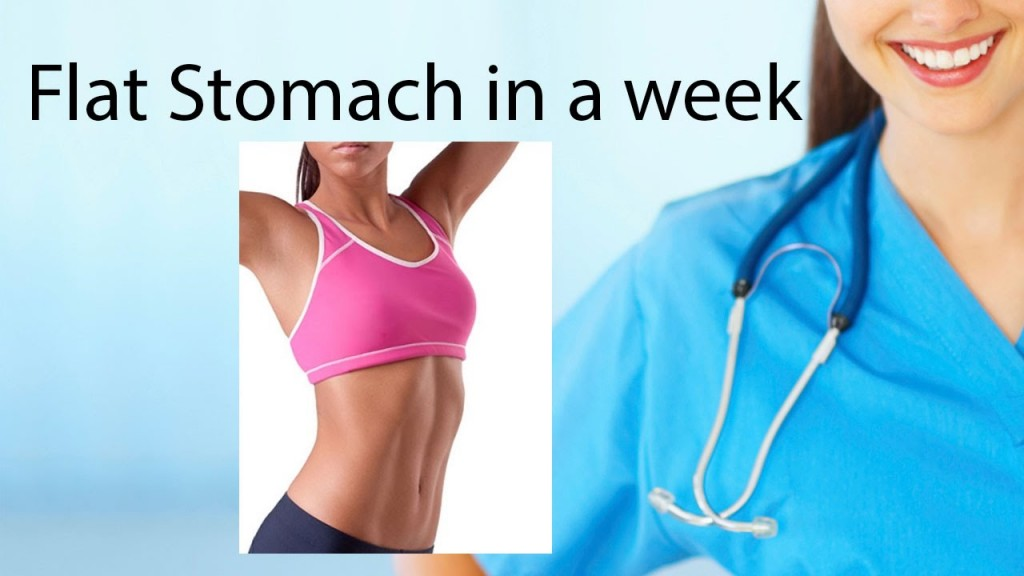 Best Exercises for How To Get A Flat Stomach Fast in a Week by Doing Sport