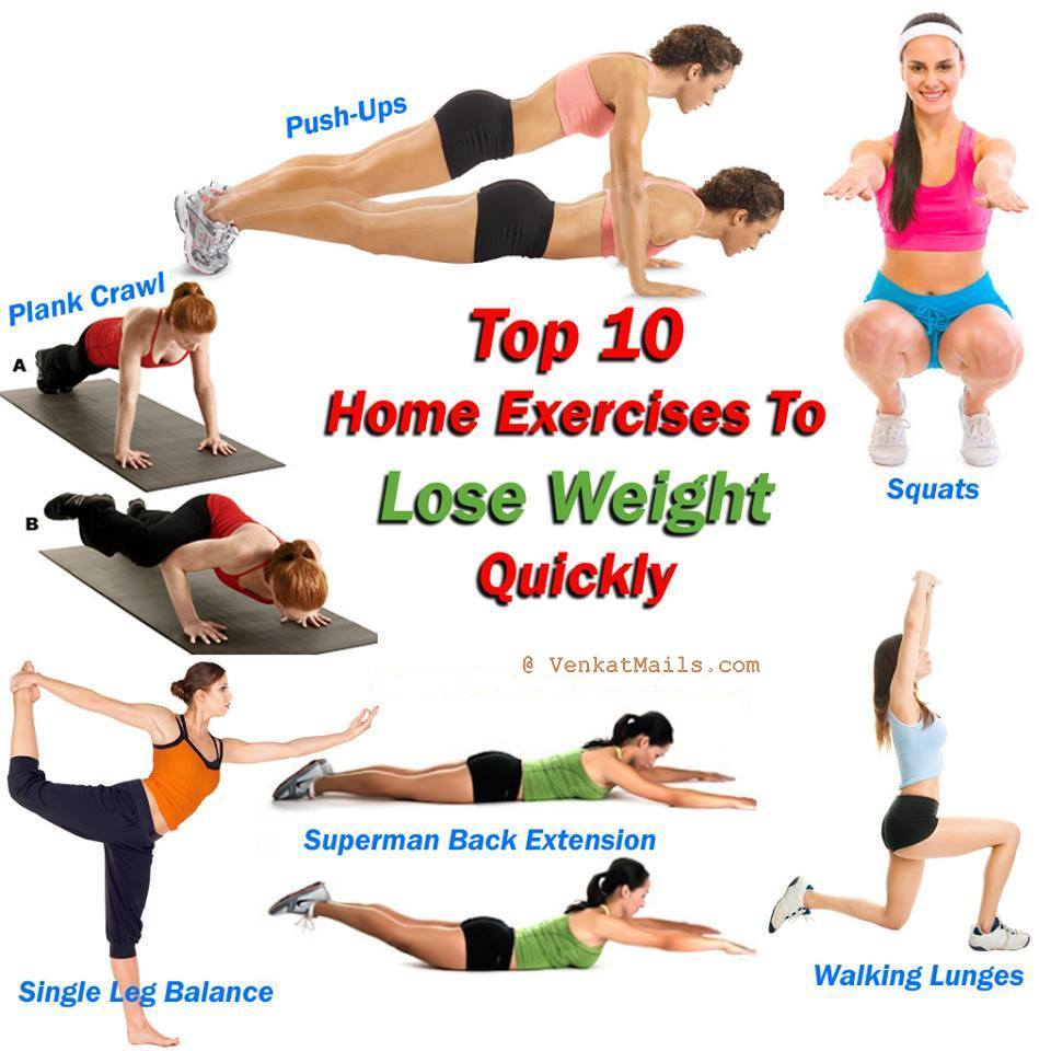 Excellent Top 10 Home Exercises That Help You easy Fastest Way To Lose Weight Quickly