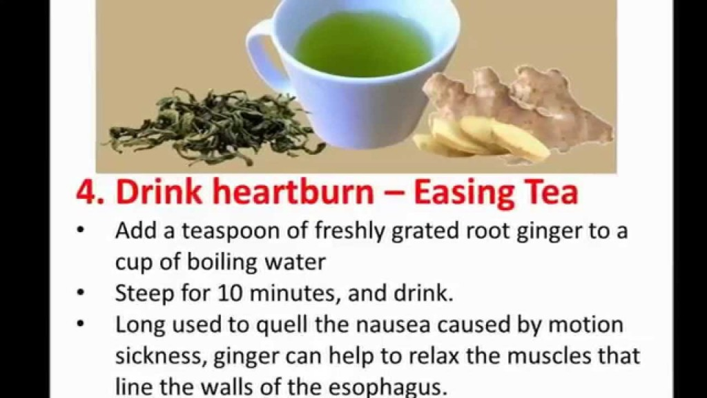 Magnificent Drink of Mixing Hot Water again Root Ginger as Home Remedies For Heartburn