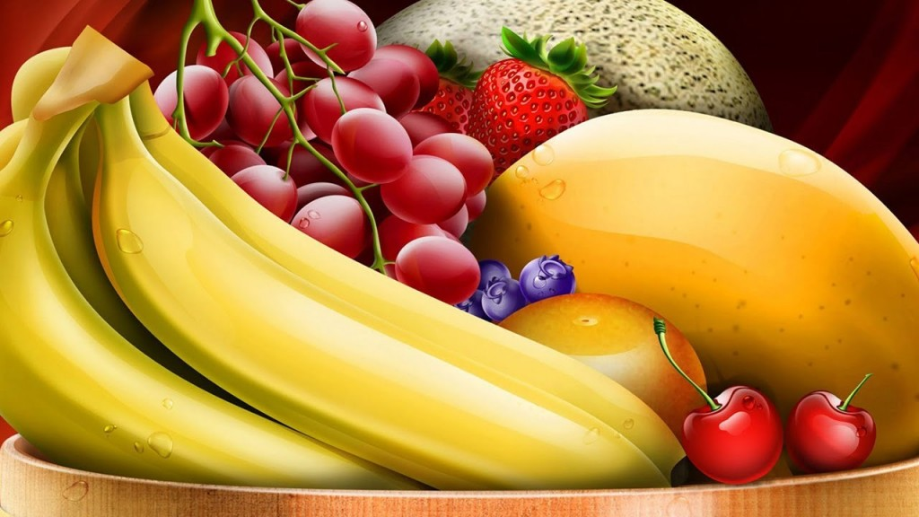 Marvelous Foods High In Potassium Including Fresh  Banana also Grape again Strawberry too Blueberry