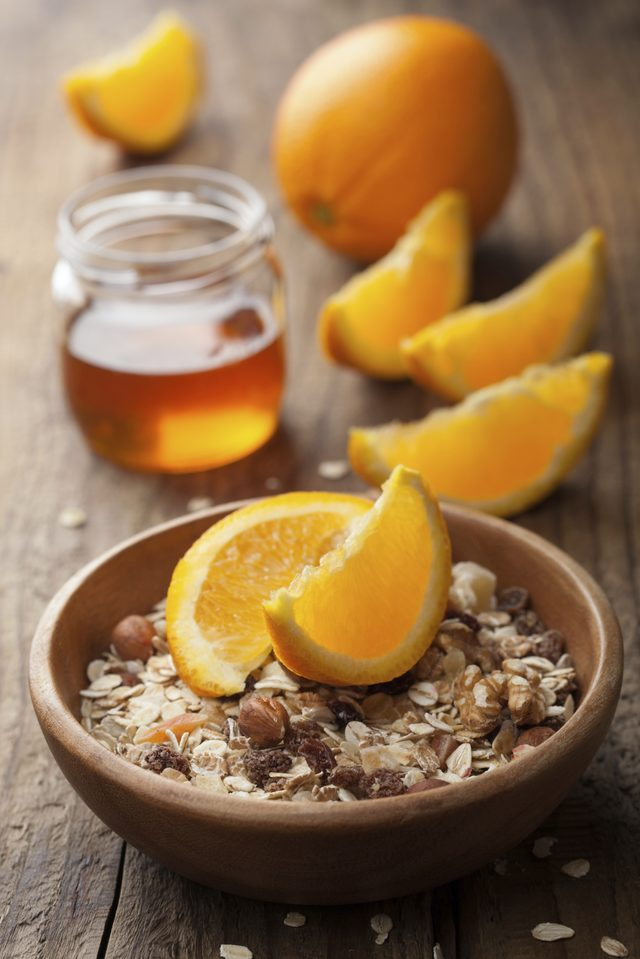 Nice Food for How To Lose 10 Ponds Easily by Consuming Orange also Oatmeal and Honey