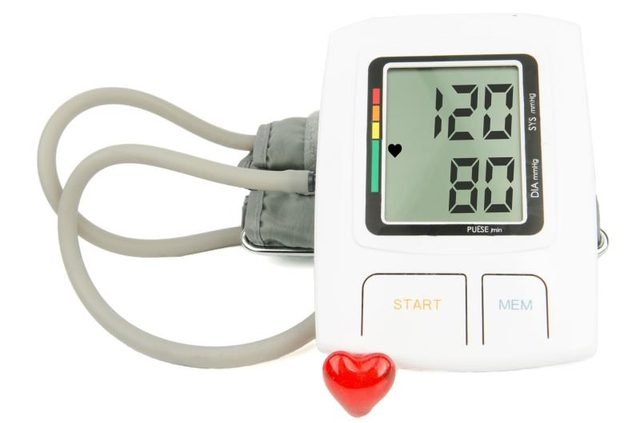 WHite Digital Blood Pressure Equipped with Grey Cables for Practical Pressure Measurement