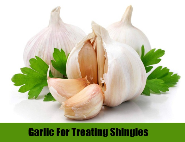 WHite Garlic and Green Celery to Treat Varicella Zortos Virus Causing SHingles