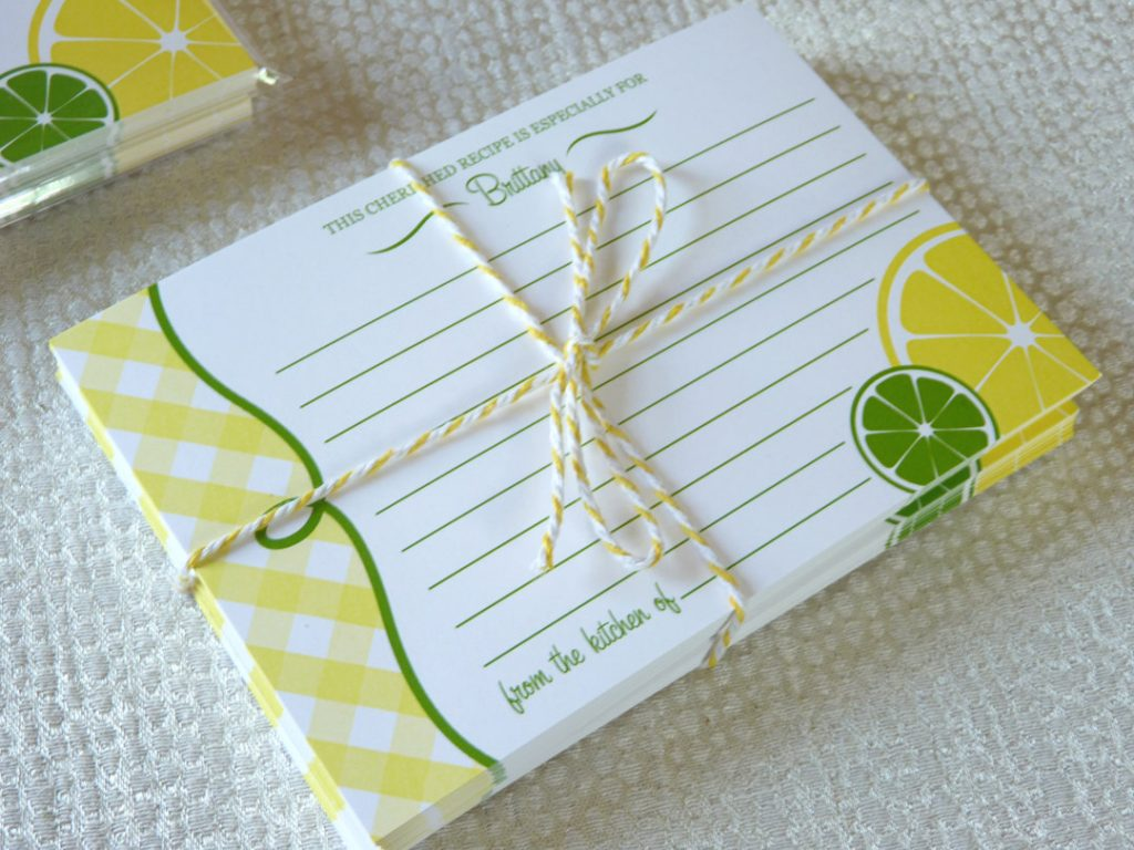 Personalized Recipe Card